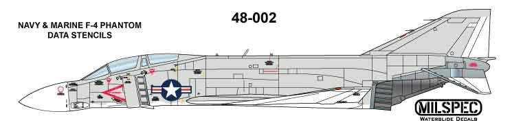 MILSPEC DECAL 1//48 SCALE VF-84 JOLLY ROGERS MS 48-003 F-4B PHANTOM