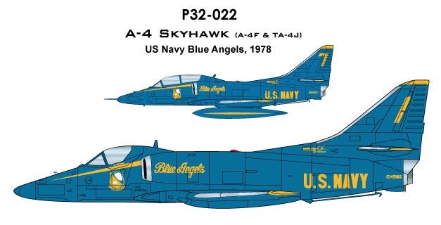 CAM PRO P32-022, 1/32 SCALE, U S NAVY BLUE ANGELS